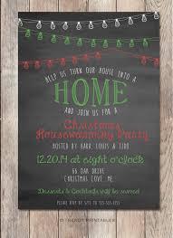 christmas housewarming party invitation housewarming