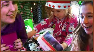 kids opening christmas presents monster high gifts iphone