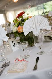 Formal Table Setting A Table Setting For A Formal Dinner Or A Wedding This Image