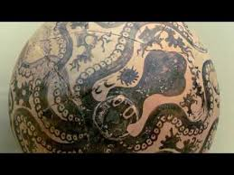 Minoan Octopus Vase E Legacy Of Time History Atlantis Branch 04 Minoan Pottery And