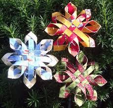 3d paper snowflake ornaments craft maniacs 3d paper snowflakes