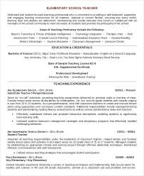 resume early childhood education resume sample teacher example