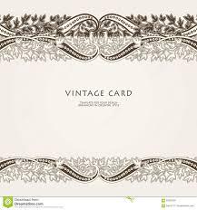 Traditional Wedding Invitation Card Wedding Invitation Card With Ethnic Flower Paisley Ornament Stock
