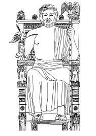 imagenes de zeus para dibujar faciles dibujo de estatua de zeus de olimpia para colorear dibujos para