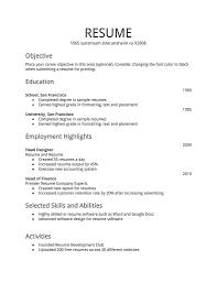 sample job resume examples free resume templates resume templates