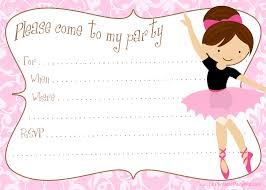 Invitation Cards For Birthday Printable Free Diy Ballerina Party Invitations Party Printables