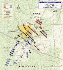 Map Of The United States During The Civil War by The Battle Of Iuka Civil War Trust