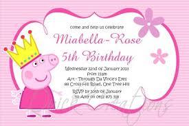 birthday invitations princess peppa pig birthday invitation