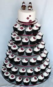 5 tier white round wedding acrylic cupcake stand tree tower cup