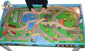 thomas the train wooden track table thomas table thomas the engine train table kids furniture playboard
