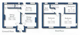 How To Measure Floor Plans Floor Plans For Clematis Cottage In Burnsall Wharfedale