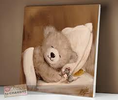 cadre ourson chambre bébé tableau ourson souris pour la déco de bébé vente tableau ourson