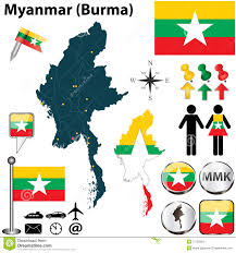Myanmar Flag Photos Map Of Myanmar Stock Vector Image Of Country Sign Burmese