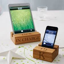 Wood Desk Accessories by Wooden Stand For Iphone By The Oak U0026 Rope Company