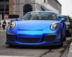 porsche chrome a sort of satin blue chrome gt3rs