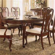 traditional oval dining table by american drew wolf and gardiner