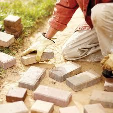 How To Lay Patio Bricks How To Build A Brick Path