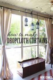 How To Put Curtain Rods Up Drop Cloth Porch Curtains Porch Curtains Porch And Drop