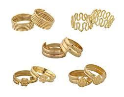 toe rings images Buy nisa pearls 5 pairs of gold plated toe rings for women online jpg