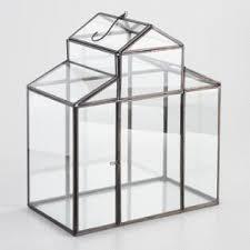 metal and glass insert house shaped terrarium world market