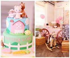 Farm Theme Baby Shower Decorations Kara U0027s Party Ideas Pink Barnyard Birthday Party Kara U0027s Party Ideas