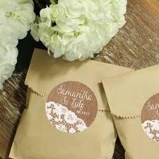 burlap wedding favor bags personalized candy buffet favor bags arrow label