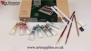 winsor u0026 newton small wooden art box winton oil colour youtube