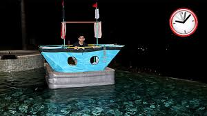 scary overnight challenge alone in a boat youtube