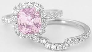 engagement rings pink images Popular pink saphire and diamond rings light cushion cut pink jpg