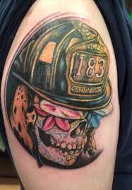 sugar skull firefighter by gilbert gilbert