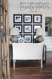 how to decorate with family photos home design ideas