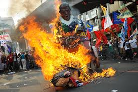 Flag Burning Protest Protests Erupt As Barack Obama Signs Philippines Military Deal