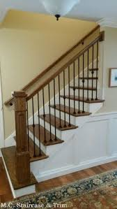 Wood Banisters And Railings Staircase Remodel From M C Staircase U0026 Trim Removal Of Carpet