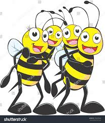 happy bee family cartoon stock illustration 104447849 shutterstock