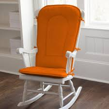 orange rocking chair pads cushions for chairs carousel solid pad
