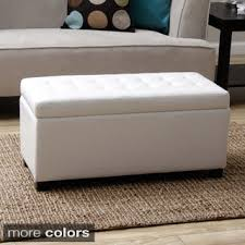 Ottoman Prices Christopher Home Alfred Faux Leather Medium Storage Ottoman