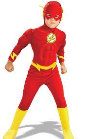 boys the flash deluxe muscle chest dc comics superhero kids fancy