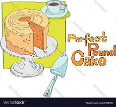 perfect pound cake royalty free vector image vectorstock