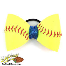 softball hair bows softball hair bow blue sparkle