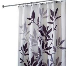 Gray And Brown Shower Curtain - interdesign leaves shower curtain in black and gray 35620 the