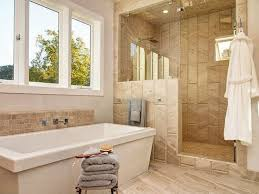 Bathrooms With Freestanding Tubs Contemporary Master Bathroom With Frameless Shower Door