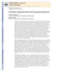 the seattle longitudinal study of cognitive development