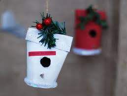 Holiday Photo Ornament Craft Ideas That Artist Woman How To Make A Christmas Birdhouse Ornament