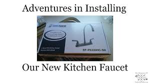 rv kitchen faucet how to install an rv dura faucet youtube