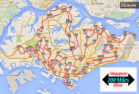 Maps Route by Singapore 200 Miles Ultra Map Route