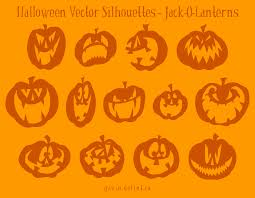 halloween silhouette vector pack
