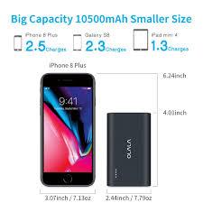 amazon com quick charge 3 0 olala pq100 10500mah portable charger