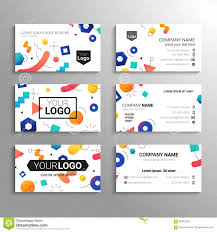 business cards vector template abstract background stock vector