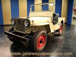 jeep willys wagon for sale 1946 willys cj2a gateway classic cars 4592