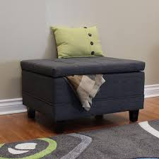 Storage Ottoman Gray by Dhp Emily Gray Linen Rectangular Storage Ottoman 2159429 The